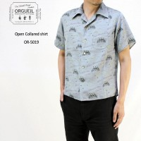 "ORGUEIL オルゲイユ 半袖 シャツ ""Open Collared shirt"" OR-5019"